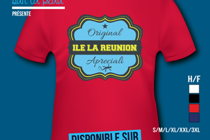 T-shirt: France - L'île de la Réunion 974 - Original Apreciali.