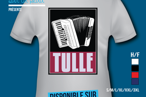 T-shirt France - Limousin - Tulle - Accordéon