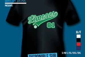 T-shirt France - Limousin - Limoges Basket 81.