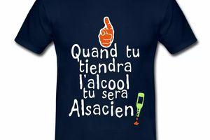 T Shirt Alsace bleu m homme Quand tu tiendra l'alcool