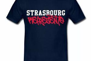 T Shirt Alsace bleu m homme Strasbourg Représente