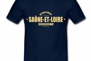 T Shirt Bourgogne Département Saône Et Loire 71 Authentique HBM