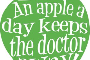 An apple a day keeps the doc away ! - Nice cream à la pomme