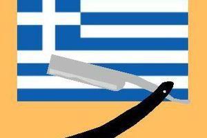 Le barbier de Syriza rase gratis.