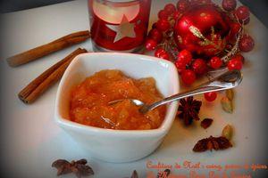 Confiture de coing, poires et épices pour un Noël épicé