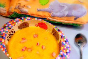 Crème de carottes au fromage blanc pour bébé