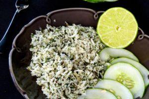Riz fraîcheur aux herbes et au citron