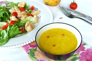 Vinaigrette mangue et orange pour salade estivale
