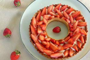 Tarte aux fraises classique