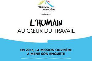 L'humain au coeur du travail : La plaquette présente les résultats de l'enquête sur le travail réalisée par la Mission Ouvrière en 2016