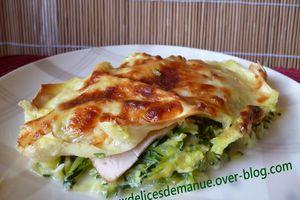 lasagnes aux courgettes et jambon de dinde