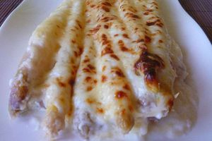 asperges blanches sauce aux 3 fromages