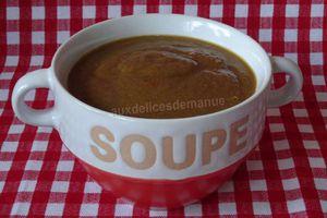 soupe de champignons et carottes aux poivrons