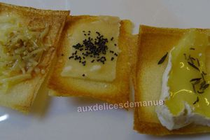 Chips de feuille de brick aux fromages