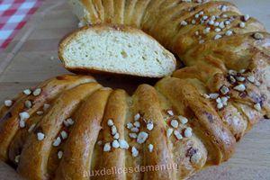 Couronne de pain brioché à l'extrait d'orange
