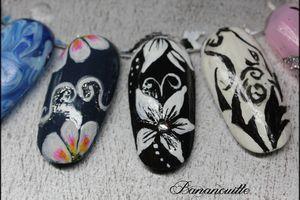 """Nail Art """"Fleurs de nuit"""""""