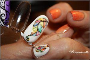"Nail Art ""plume"""