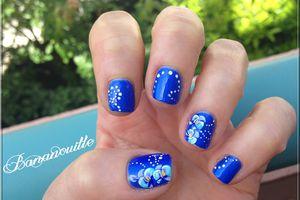 """Nail Art """"orchidées """""""