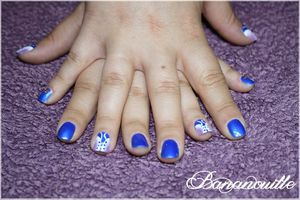 "Nail Art ""corsets one stroke"""