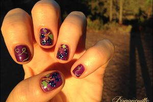 "Nail Art ""vendanges"""