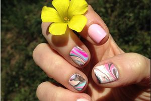 """Nail Art """" water marble"""""""
