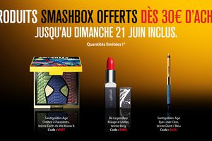 4 cadeaux en passant commande chez Smashbox !