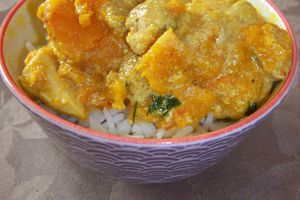 Curry de butternut et poulet