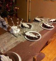 Décoration de tables: thème: Noël Marron et Argent