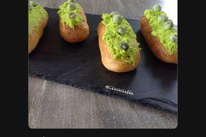 Eclairs saumon - wasabi