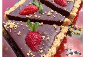 Tarte chocolat sans cuisson