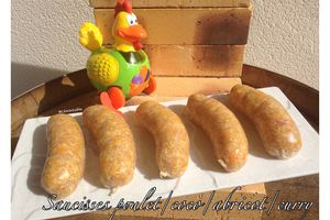 Saucisses poulet/coco/abricot/curry