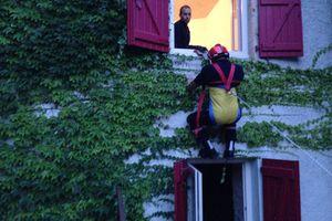 Exercices de secours des sapeurs pompiers
