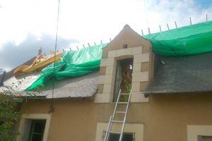 Reprise du travail: deux chantiers,  un neuf et de la restauration.