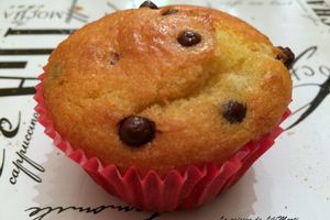 Muffins au fromage blanc et perles de chocolat