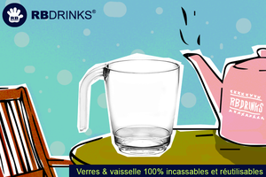 RBDRINKS® – Les verres et la vaisselle pour votre établissement !
