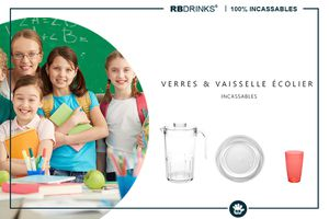 Des beaux verres incassables pour les écoliers!