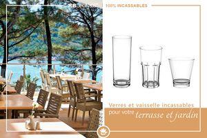 Verres & Vaisselle incassables pour votre terrasse et jardin