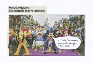 Mickey embauche des moutons comme jardiniers