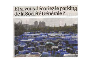 Et si vous décoriez le parking de la société générale ?