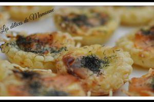 Mini-tartelettes au saumon fumé
