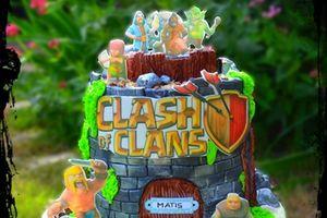 """Gâteau d'anniversaire """"Clash of clans"""""""