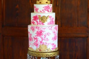 Wedding cake Toile de Jouy