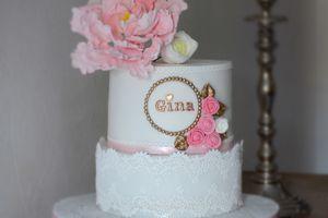 Gâteau d'anniversaire bébé fille