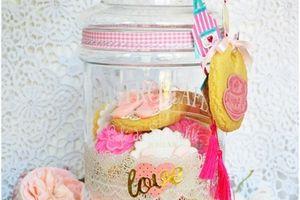Bonbonnière et biscuits décorés spécial fête des mères