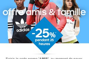 25% de reduction chez Adidas
