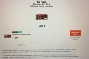 Too Faced et Urban Decay disponible sur Sephora en lien caché