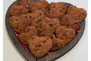 Cookies aux flocons d'avoine, orange et chocolat