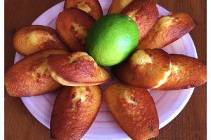 Madeleine miel et citron vert