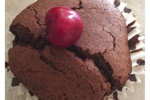 Muffin chocolat et cerise