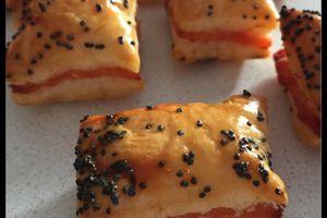 Feuilletés au saumon fumé